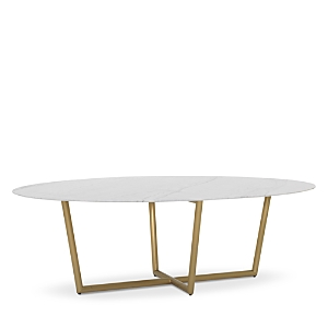 Mitchell Gold Bob Williams Furnitures MODERN OVAL MARBLE DINING TABLE, 96 X 54