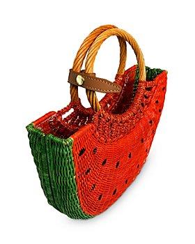 SERPUI - Watermelon Small Wicker Basket Bag