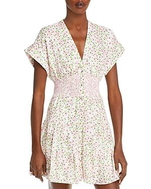 Keela Floral Print Smocked Dress