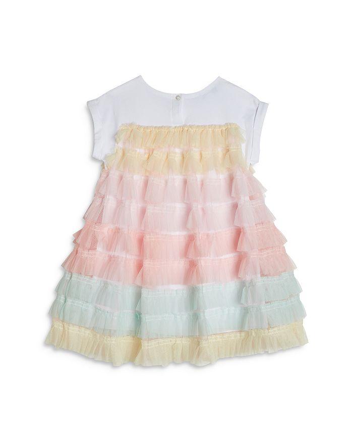 PIPPA & JULIE Cottons GIRLS' COTTON RUFFLED T-SHIRT DRESS - BABY