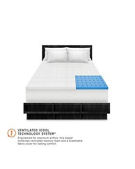 Soft-Tex - SensorPEDIC 1.5-Inch Coolest Comfort Memory Foam Bed Topper