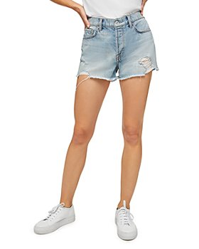 7 For All Mankind - Monroe Cutoff Jean Shorts in Cosmic Blur