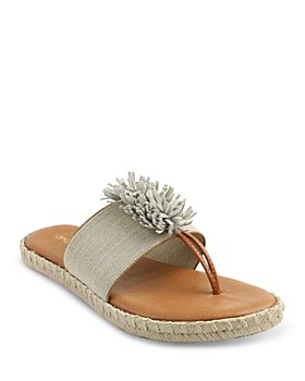 Andre Assous - Women's Estela Suede Tassel Stretchy Espadrille Thong Sandals