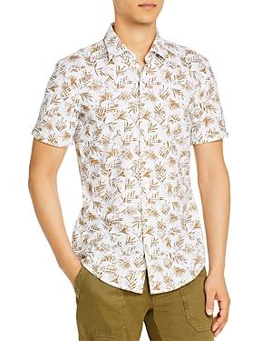 Boss Ronn Palm Leaf Print Slim Fit Shirt