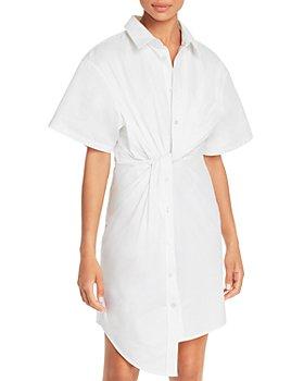 alexanderwang.t - Cotton Twisted Shirt Dress