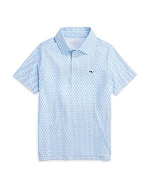 Vineyard Vines Boys' Sankaty Print Polo Shirt - Little Kid, Big Kid