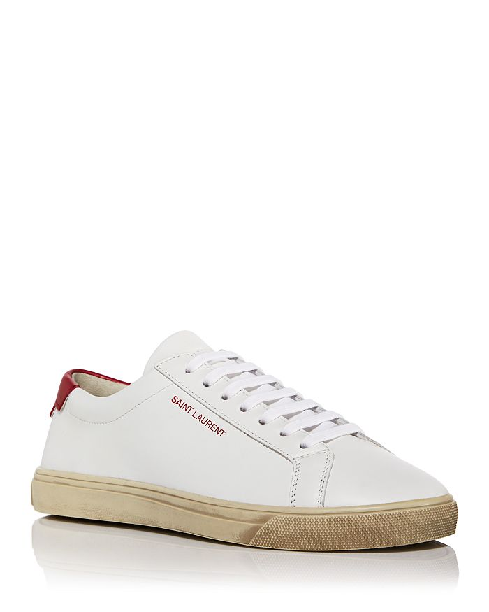 Saint Laurent - Women's Andy Low Top Leather Sneakers