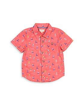 EGG new york -  Boys' Adrian Cotton Short Sleeve Shirt - Little Kid