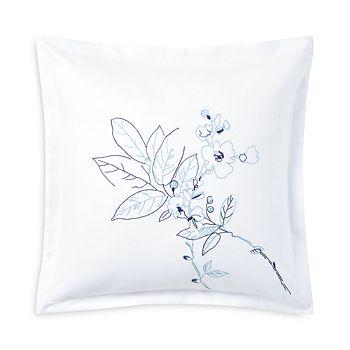"""Ralph Lauren - Sandra Embroidered Decorative Pillow, 18"""" x 18"""""""