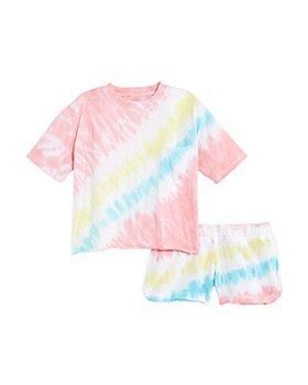 Vintage Havana - Girls' Tie Dye Shorts Set - Big Kid