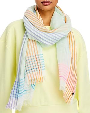 Multi Stripe Linen Scarf