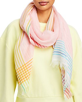 Fraas - Multi Stripe Linen Scarf