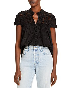 Alice and Olivia - Ilaria Crochet Top