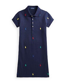 Ralph Lauren - Girls' Embroidered Polo Shirt Dress - Little Kid, Big Kid