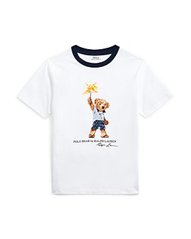Ralph Lauren - Boys' Sparkler Bear Tee - Little Kid, Big Kid