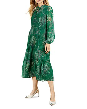 Ted Baker - Serendipity Pleated Long Sleeve Midi Dress