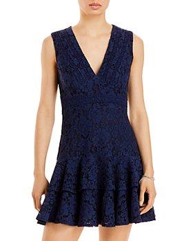 AQUA - Lace V Neck Mini Dress - 100% Exclusive