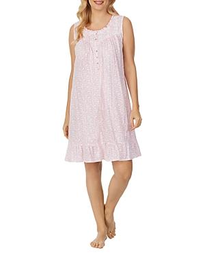 Lace Trim Ruffled Hem Nightgown