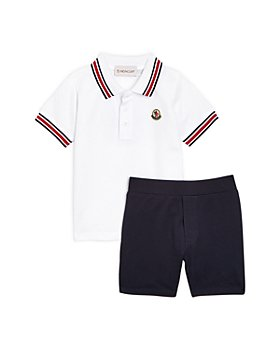 Moncler - Boy's' Corta Piqué Polo Shirt & Shorts Set - Baby