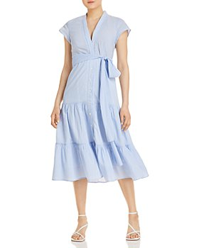 Kobi Halperin - Amira Micro Striped Tiered Shirtdress