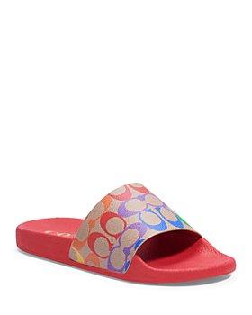 COACH - Women's Udele Logo Print Slide Sandals