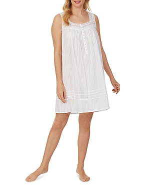 Printed Lace Trim Nightgown
