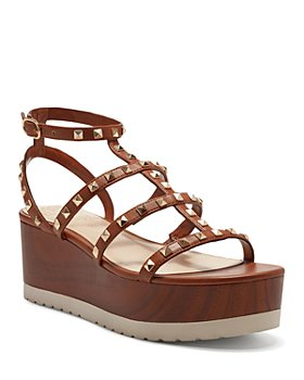 VINCE CAMUTO - Women's Pemolie Studded Strappy Faux Leather Platform Sandals