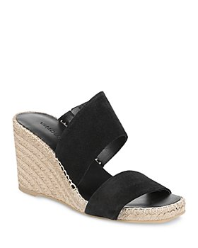 Vince - Women's Garlin Square Toe Suede Espadrille Wedge Sandals