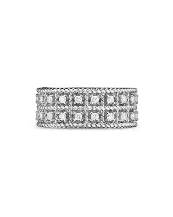 Roberto Coin - 18K White Gold Byzantine Barocco Diamond Ring