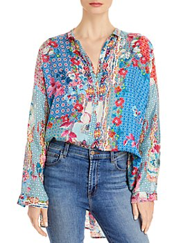 Johnny Was - Lubello Reese Floral Silk Shirt