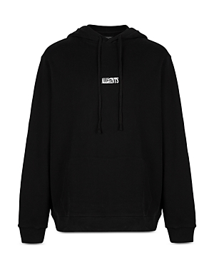 Allsaints Opposition Cotton Logo Print Relaxed Fit Hoodie