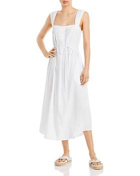 Vince - Poet Strap Belted Midi Dress