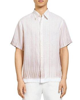 Theory - Noll Glaze Stripe Linen Button Down Shirt