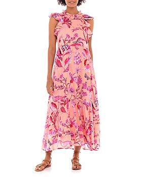Banjanan - Hanna Cotton Floral Print Maxi Dress