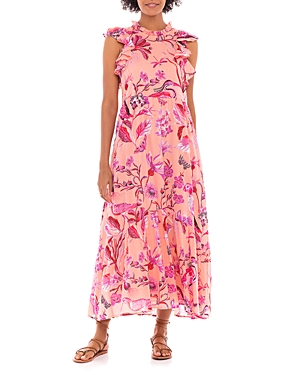 Hanna Cotton Floral Print Maxi Dress