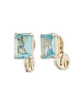 Ralph Lauren - Stone Clip On Button Earrings