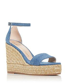 Stuart Weitzman - Women's Floria Wedge Platform Espadrille Sandals - 100% Exclusive