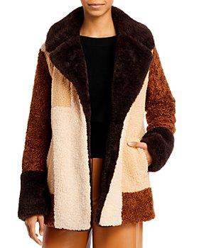 A.L.C. - Stefan Faux Fur Patchwork Coat