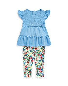 Ralph Lauren - Girls' Tiered Top & Floral Print Leggings Set - Baby
