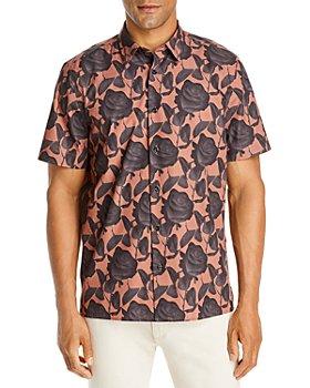 HUGO - Ebor Rose Print Short Sleeve Shirt