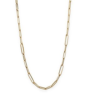 """Roberto Coin - 18K Yellow Gold Polished Oval Link Chain Necklace, 17"""""""