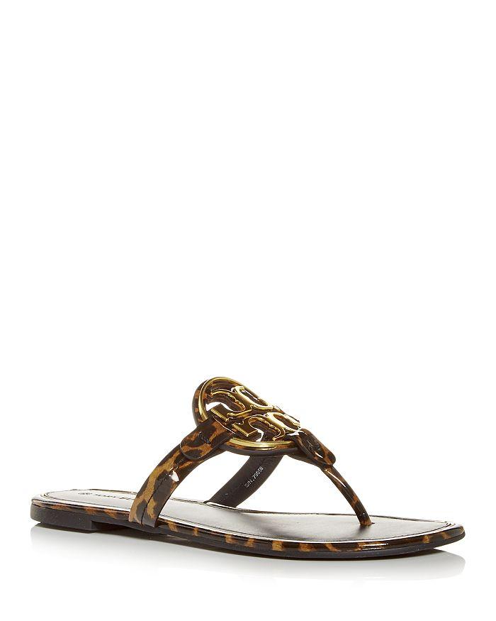 Tory Burch - Women's Miller Leopard Print Thong Sandals