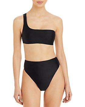 Jade Swim - Apex One Shoulder Bikini Top & Incline High Waist Bikini Bottom