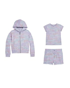 Splendid - Girls' Pastel Camouflage Tee, Hoodie & Shorts - Big Kid