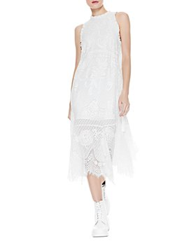 Alice and Olivia - Angelyn Embroidered Lace Midi Dress
