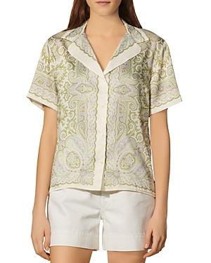 Sandro Liviana Printed Shirt
