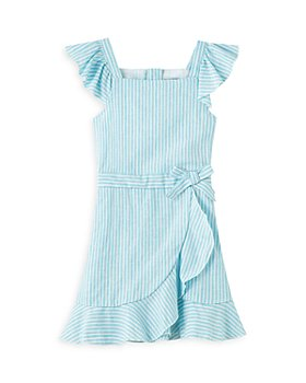 Habitual Kids - Girls' Ruffle Flounce Linen Dress - Little Kid