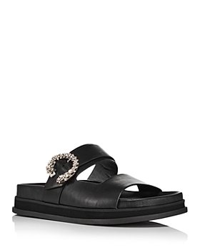 Jimmy Choo - Women's Marga Embellished Flat Sandals