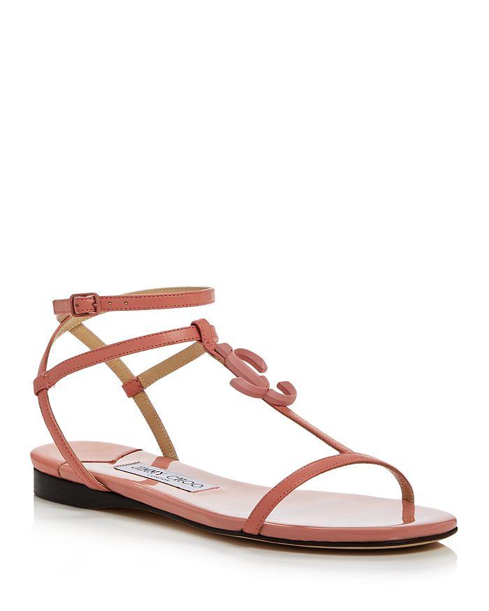 Jimmy Choo - Women's Alodie Leather Flat Sandals