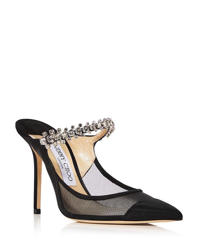 Jimmy Choo - Women's Bing 100 Embellished High Heel Mules